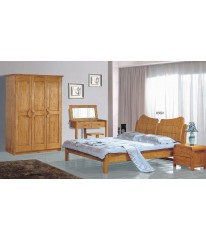 KING BED SET /BEDROOM FURNITURE