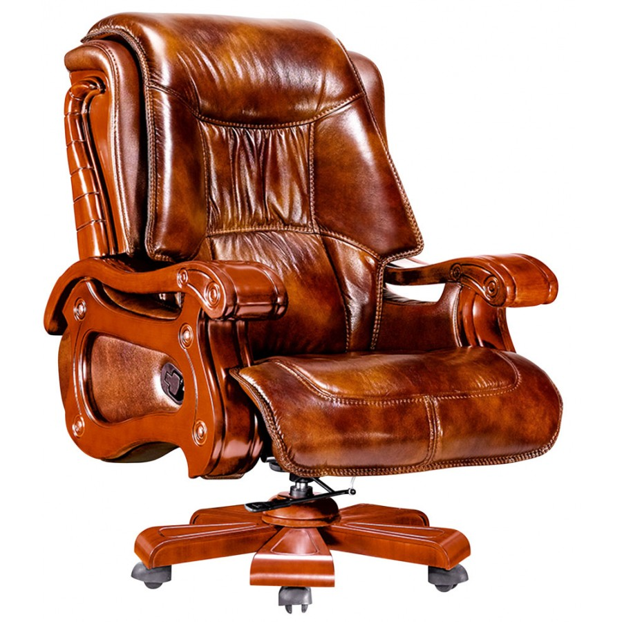 Executive Office Furniture: EXECUTIVE LEATHER OFFICE RECLINER CHAIR